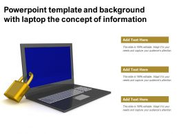 Powerpoint Template And Background With Laptop The Concept Of Information