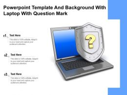 Powerpoint Template And Background With Laptop With Question Mark
