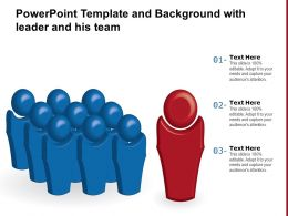 Powerpoint Template And Background With Leader And His Team