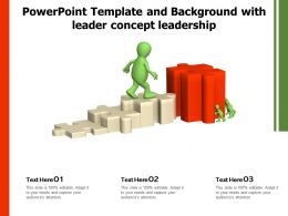 Powerpoint Template And Background With Leader Concept Leadership