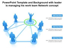 Powerpoint Template And Background With Leader Is Managing His Work Team Network Concept