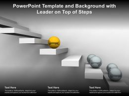 Powerpoint Template And Background With Leader On Top Of Steps