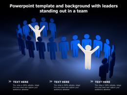 Powerpoint Template And Background With Leaders Standing Out In A Team