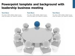 Powerpoint Template And Background With Leadership Business Meeting