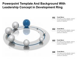 Powerpoint Template And Background With Leadership Concept In Development Ring