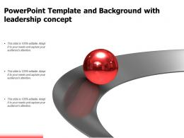 Powerpoint Template And Background With Leadership Concept
