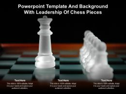 Powerpoint Template And Background With Leadership Of Chess Pieces