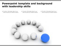 Powerpoint Template And Background With Leadership Skills