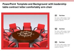 Powerpoint Template And Background With Leadership Table Contract Letter Comfortably Arm Chair