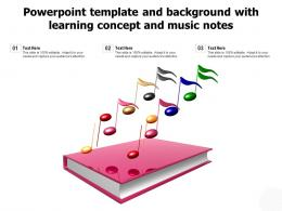 Powerpoint Template And Background With Learning Concept And Music Notes