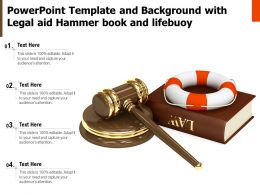 Powerpoint Template And Background With Legal Aid Hammer Book And Lifebuoy