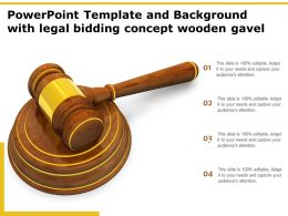 Powerpoint Template And Background With Legal Bidding Concept Wooden Gavel
