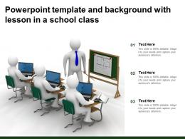 Powerpoint Template And Background With Lesson In A School Class