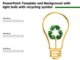 Powerpoint Template And Background With Light Bulb With Recycling Symbol