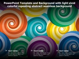 Powerpoint Template And Background With Light Vivid Colorful Repeating Abstract Seamless