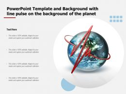 Powerpoint Template And Background With Line Pulse On The Background Of The Planet