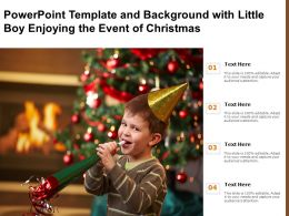 Powerpoint Template And Background With Little Boy Enjoying The Event Of Christmas