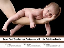 Powerpoint Template And Background With Little Cute Baby Family
