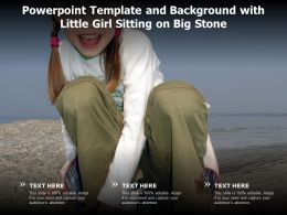 Powerpoint Template And Background With Little Girl Sitting On Big Stone