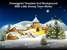 Powerpoint Template And Background With Little Snowy Town Winter
