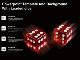 Powerpoint Template And Background With Loaded Dice