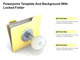 Powerpoint Template And Background With Locked Folder