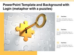 Powerpoint Template And Background With Login Metaphor With A Puzzles