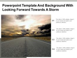 Powerpoint Template And Background With Looking Forward Towards A Storm