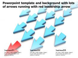 Powerpoint Template And Background With Lots Of Arrows Running With Red Leadership Arrow