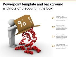 Powerpoint Template And Background With Lots Of Discount In The Box