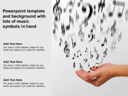 Powerpoint Template And Background With Lots Of Music Symbols In Hand