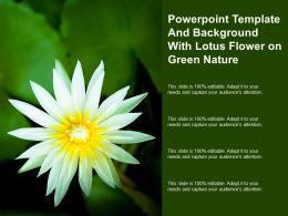 Powerpoint Template And Background With Lotus Flower On Green Nature