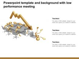 Powerpoint Template And Background With Low Performance Meeting