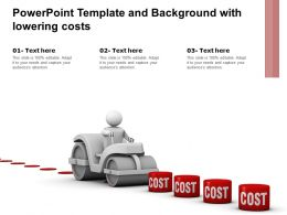 Powerpoint Template And Background With Lowering Costs