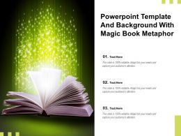 Powerpoint Template And Background With Magic Book Metaphor