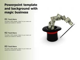 Powerpoint Template And Background With Magic Business