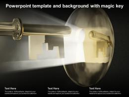 Powerpoint Template And Background With Magic Key