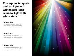 Powerpoint Template And Background With Magic Radial Rainbow Light With White Stars
