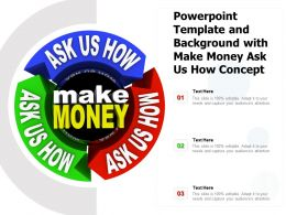 Powerpoint Template And Background With Make Money Ask Us How Concept