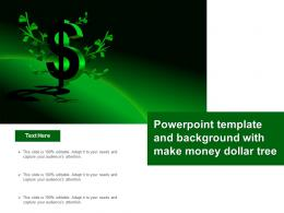 Powerpoint Template And Background With Make Money Dollar Tree