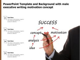 Powerpoint Template And Background With Male Executive Writing Motivation Concept