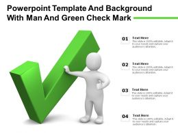 Powerpoint Template And Background With Man And Green Check Mark