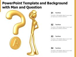 Powerpoint Template And Background With Man And Question