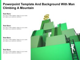 Powerpoint Template And Background With Man Climbing A Mountain