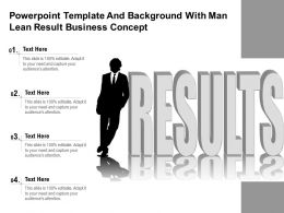 Powerpoint Template And Background With Man Lean Result Business Concept