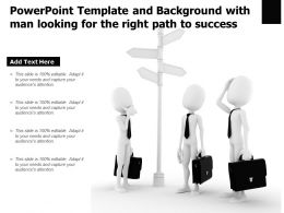 Powerpoint Template And Background With Man Looking For The Right Path To Success