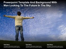 Powerpoint Template And Background With Man Looking To The Future In The Sky