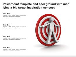 Powerpoint Template And Background With Man Lying A Big Target Inspiration Concept