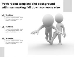 Powerpoint Template And Background With Man Making Fall Down Someone Else
