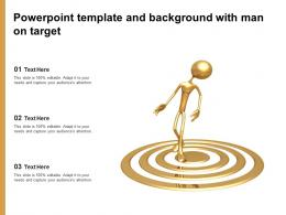 Powerpoint Template And Background With Man On Target